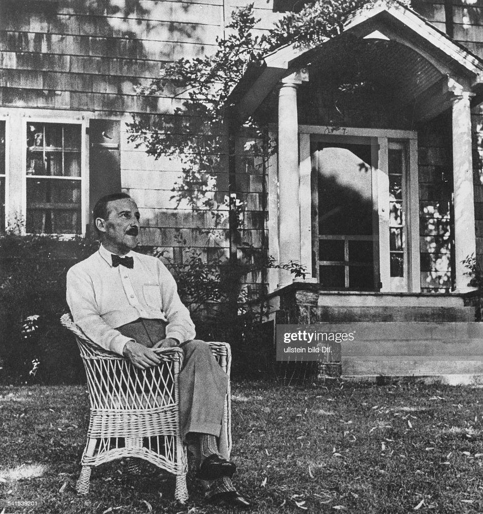 Stefan Zweig at Ossining, N.Y., Summer, 1941 : News Photo