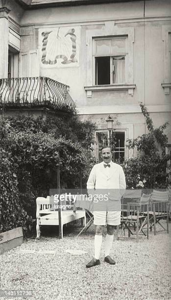 Stefan Zweig in front of his house at the Kapuzinerberg Salzburg Photograph around 1935