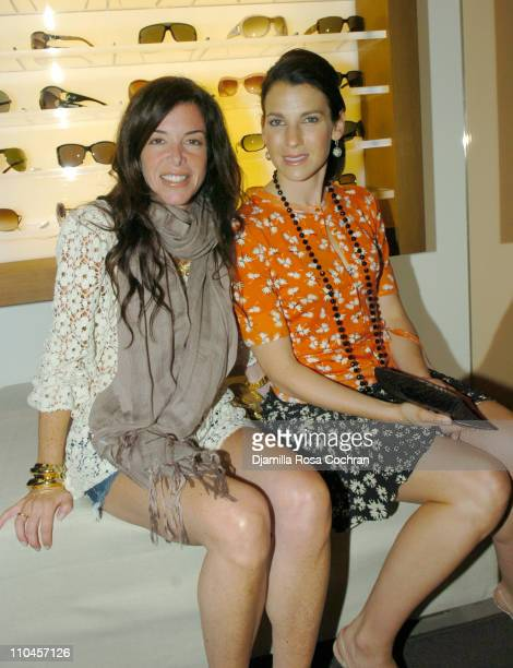 Stefani Greenfield and Jessica Seinfeld during Gucci Celebrates The Opening of The New East Hampton Store - June 3, 2006 at Gucci Store in East...