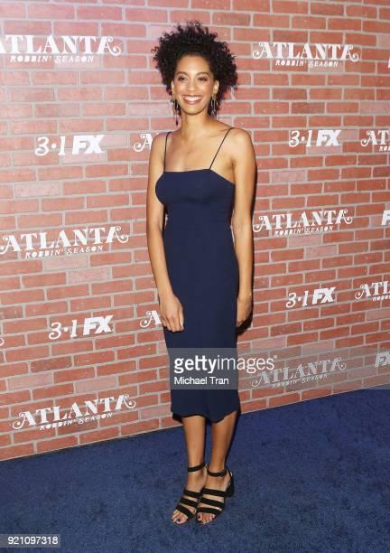 Stefani Robinson arrives at FX's Atlanta Robbin' Season Los Angeles premiere held at Ace Theater Downtown LA on February 19 2018 in Los Angeles...