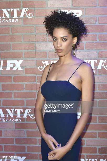Stefani Robinson attends FX's Atlanta Robbin' Season Premiere Arrivals at Ace Theater Downtown LA on February 19 2018 in Los Angeles California