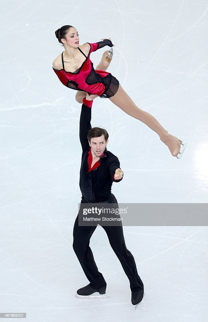 Stefania Berton and Ondrej Hotarek of Italy compete in the Figure Skating Team Pairs Free Skating during day one of the Sochi 2014 Winter Olympics at Iceberg Skating Palace on February 8, 2014 in Sochi, Russia.