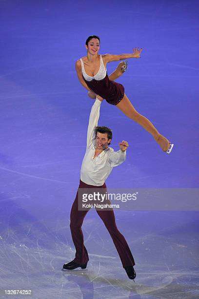 Stefania Berton and Ondrej Hotarek of Italy perform in the Gala Exhibition during day three of the ISU Grand Prix of Figure Skating NHK Trophy at...