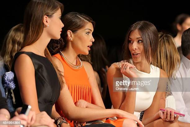 Stefania Fernandez Gabriela Isler and Dayana Mendoza attend the Angel Sanchez fashion show during MercedesBenz Fashion Week Spring 2015 at The...
