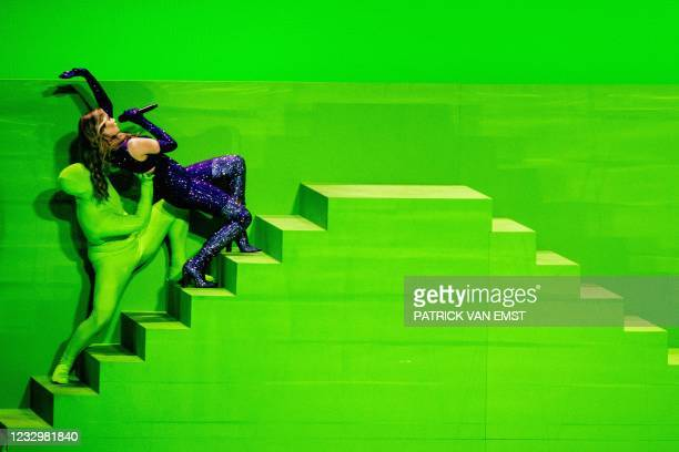 Stefania from Greece with the song Last Dance performs during the first dress rehearsal of the second semi-final of the Eurovision Song Contest on...