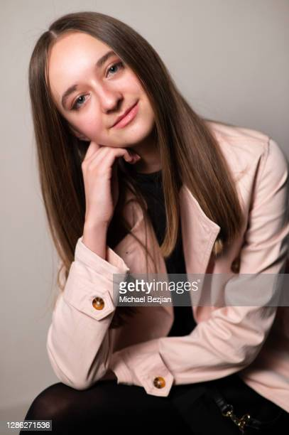 Stefania Lily poses for portrait at The Artists Project Hosts Portraits For The Premiere of Timecrafters on November 17 2020 in Los Angeles California