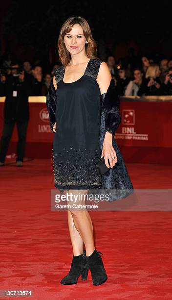Stefania Montorsi attends the 'Hysteria' Premiere during the 6th International Rome Film Festival on October 28 2011 in Rome Italy