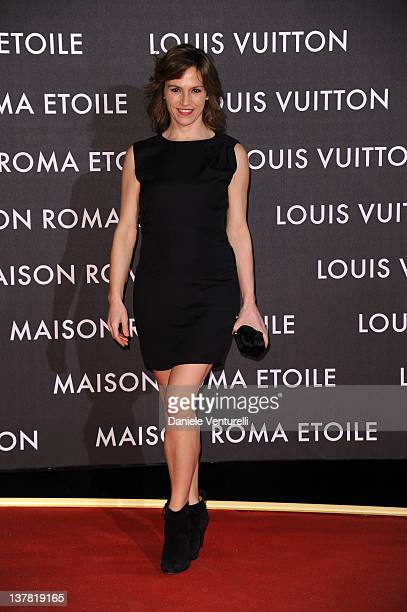 Stefania Montorsi attends the 'Maison Louis Vuitton Roma Etoile' Opening Party on January 27 2012 in Rome Italy