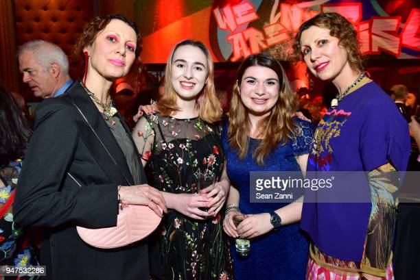 Stefania Napoleone Saunder Boyle Madeline Greenberg and Valeria Napoleone attend NYU Tisch School of the Arts GALA 2018 at Capitale on April 16 2018...