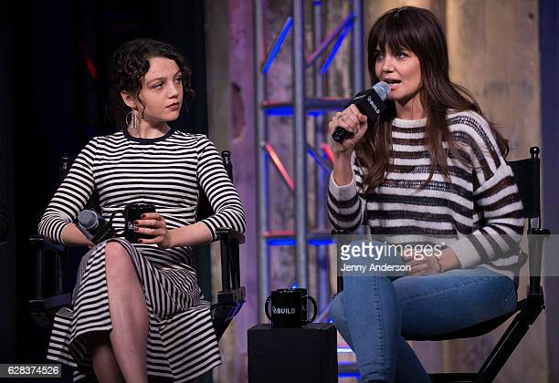 Stefania Owen and Katie Holmes attend AOL Build Series at AOL HQ on December 7 2016 in New York City