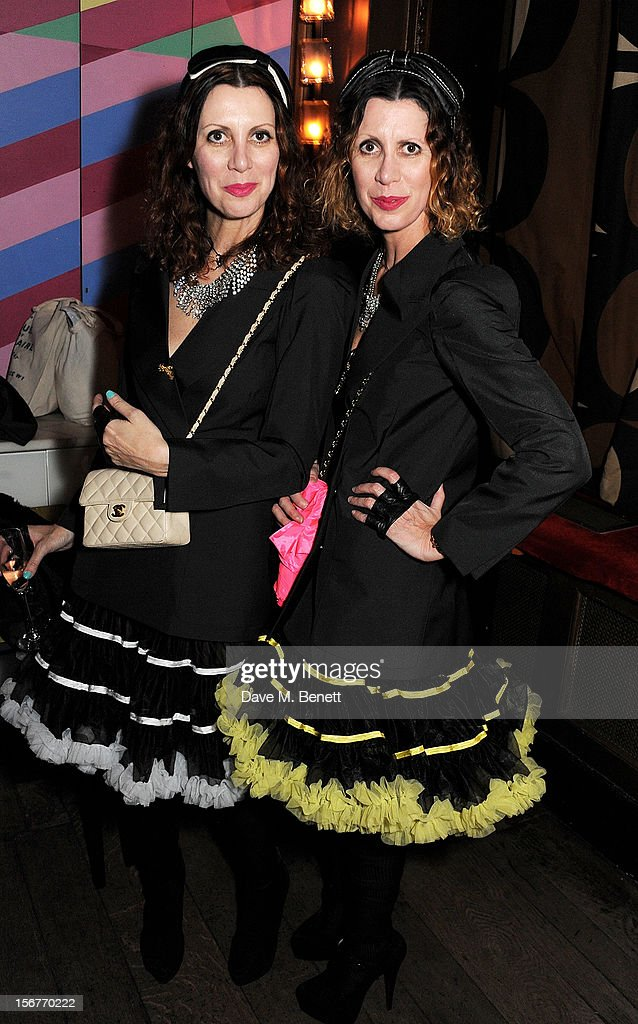 Stefania Pramma (L) and Valeria Napoleone attend the launch of House of Voltaire, the new pop-up shop from acclaimed London art space Studio Voltaire, at Sketch on November 20, 2012 in London, England.