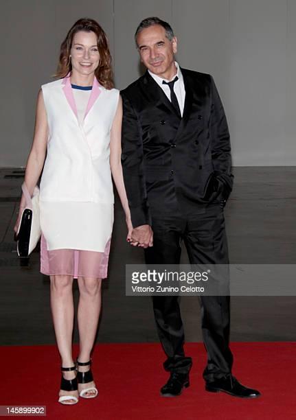 Stefania Rocca and Carlo Capasa attend the 2012 Convivio charity gala event on June 7 2012 in Milan Italy