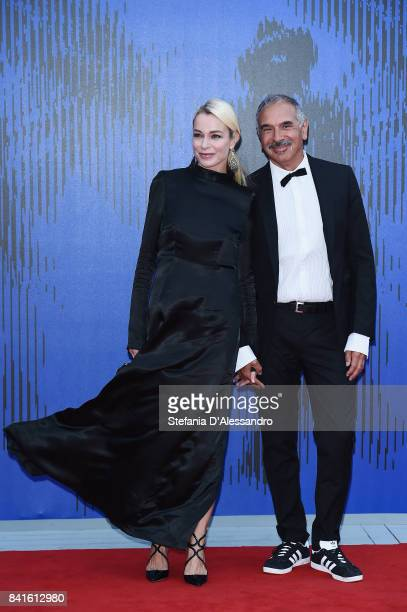 Stefania Rocca and Carlo Capasa attend the Franca Sozzanzi Award during the 74th Venice Film Festival on September 1 2017 in Venice Italy