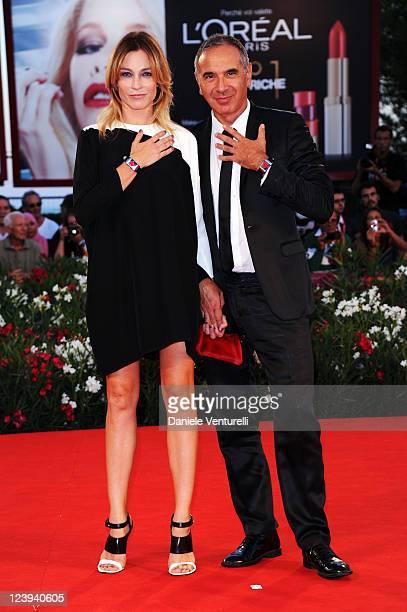 Stefania Rocca and Carlo Capasa attend the Il Villaggio di Cartone Premiere during the 68th Venice International Film Festival at Palazzo del Casino...