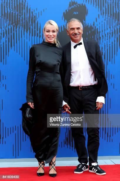 Stefania Rocca and Carlo Capasa attend the The 1st Franca Sozzani Award during the 74th Venice Film Festival at Sala Giardino on September 1 2017 in...