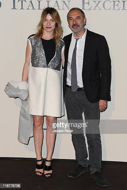 Stefania Rocca and Carlo Capasa attend Tribute To Italian Excellence at Milan Stock Exchange on June 17 2011 in Milan Italy