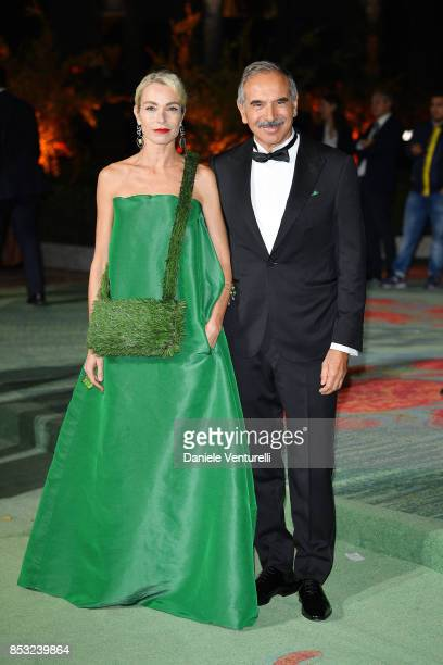 Stefania Rocca and Carlo Capasa attends the Green Carpet Fashion Awards Italia 2017 during Milan Fashion Week Spring/Summer 2018 on September 24 2017...