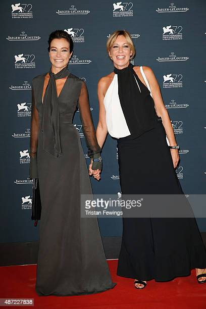 Stefania Rocca and Francesca Rocca attend the JaegerLeCoultre gala event celebrating 10 years of partnership with La Mostra Internazionale d'Arte...