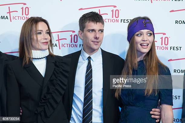 Stefania Rocca Domenico Diele Francesca Cavallin during the Second Day for Roma Fiction Fest 10 The Space Cinema Moderno on the Red Carpet of the...