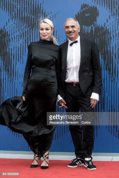 Stefania Rocca Felice and Carlo Capasa attend the The Franca Sozzani Award during the 74th Venice Film Festival at Sala Giardino on September 1 2017...