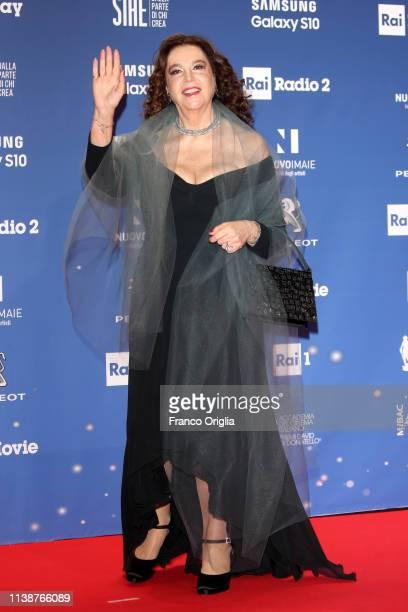 Stefania Sandrelli walks a red carpet ahead of the 64 David Di Donatello awards ceremony Red Carpet on March 27 2019 in Rome Italy