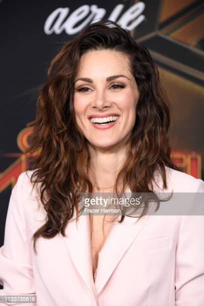 Stefania Spampinato attends Marvel Studios Captain Marvel Premiere on March 04 2019 in Hollywood California