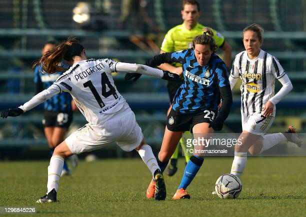 Stefania Tarenzi of FC Internazionale in action during the Women Serie A match between FC Internazionale and Juventus at Suning Youth Development...