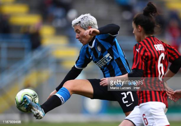 Stefania Tarenzi of FC Internazionale in action during the Women Coppa Italia match between FC Internazionale v AC Milan on December 11, 2019 in...