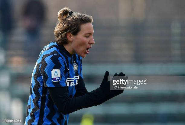 Stefania Tarenzi of FC Internazionale looks dejected during the Women Serie A match between FC Internazionale and Juventus at Suning Youth...
