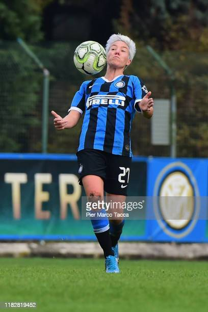 Stefania Tarenzi of FC Internazionale Women in action during the Women Serie A match between FC Internazionale and Orobica at Campo Sportivo F...