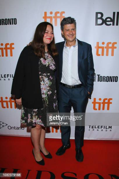 Stefanie Azpiazu and Anthony Bregman attend The Land Of Steady Habits premiere during 2018 Toronto International Film Festival at Roy Thomson Hall on...