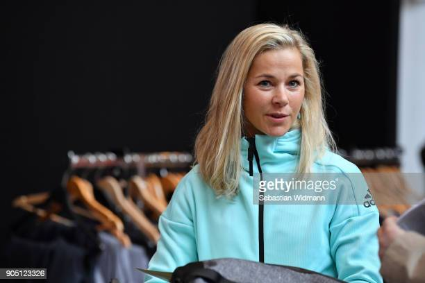 Stefanie Boehler looks on at the 2018 PyeongChang Olympic Games German Team kit handover at Postpalast on January 15 2018 in Munich Germany
