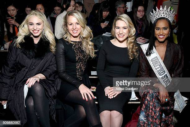 Stefanie Chernick Melissa Hill Julia LaRoche and Andreia Gibau attend the Fashion Hong Kong Fall 2016 fashion show during New York Fashion Week The...