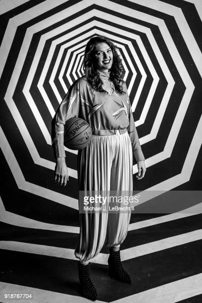 Stefanie Dolson of the Chicago Sky poses for a portrait as part of the 2018 NBA AllStar Weekend on February 15 2018 at the Mariott in Los Angeles...