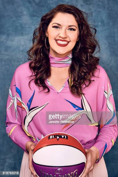 Stefanie Dolson of the Chicago Sky poses for portraits during the NBAE Circuit as part of 2018 NBA AllStar Weekend on February 15 2018 at the JW...