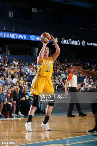 Stefanie Dolson of the Chicago Sky shoots the ball against the Seattle Storm on September 3 2017 at Allstate Arena in Rosemont IL NOTE TO USER User...