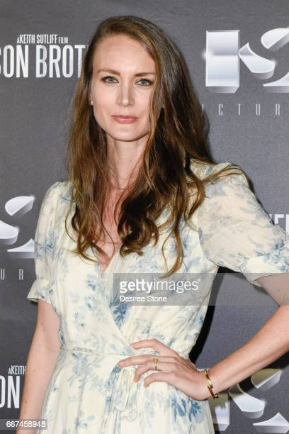 """Stefanie Estes the premiere of """"The Mason Brothers"""" at the Egyptian Theatre on April 11, 2017 in Hollywood, California."""