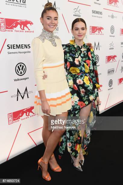 Stefanie Giesinger and Emilia Schuele attend the New Faces Award Style 2017 at The Grand on November 15 2017 in Berlin Germany