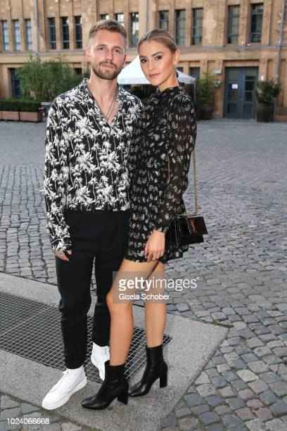 Stefanie Giesinger and her boyfriend Marcus Butler during the ''Asphaltgorillas' premiere at Kino in der KulturBrauerei on August 21 2018 in Berlin...