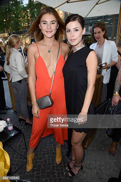 Stefanie Giesinger and Lena MeyerLandrut attend the Magnum Chocolate Hour At Magnum Pleasure Store on June 09 2016 in Berlin Germany