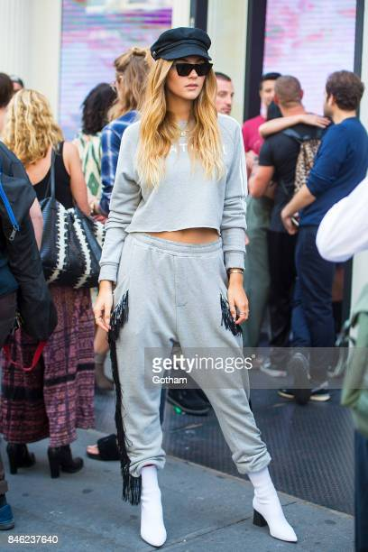 Stefanie Giesinger attends the Baja East fashion show during New York Fashion Week in SoHo on September 12 2017 in New York City