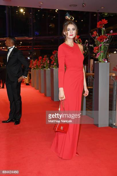 Stefanie Giesinger attends the 'Django' premiere during the 67th Berlinale International Film Festival Berlin at Berlinale Palace on February 9 2017...