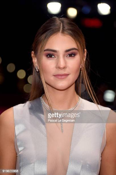Stefanie Giesinger attends the 'Eva' premiere during the 68th Berlinale International Film Festival Berlin at Berlinale Palast on February 17 2018 in...