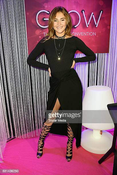 Stefanie Giesinger attends the 'GLOW The Beauty Convention' on May 14 2016 in Stuttgart Germany