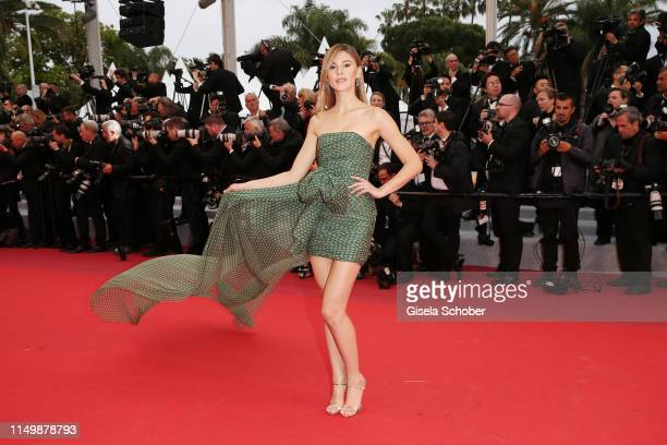 """Stefanie Giesinger attends the screening of """"Pain And Glory """" during the 72nd annual Cannes Film Festival on May 17, 2019 in Cannes, France."""
