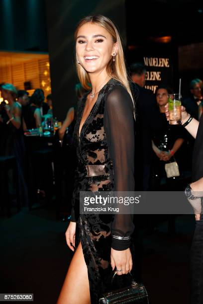 Stefanie Giesinger poses at the Bambi Awards 2017 party at Atrium Tower on November 16 2017 in Berlin Germany