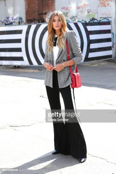 Stefanie Giesinger poses for photographs during the Bread & Butter by Zalando 2017 at arena Berlin on September 3, 2017 in Berlin, Germany.