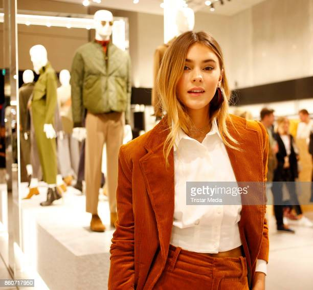 Stefanie Giesinger wearing Mango attends the Mango Committed Collection PreLaunch at Mango Store on October 12 2017 in Hamburg Germany