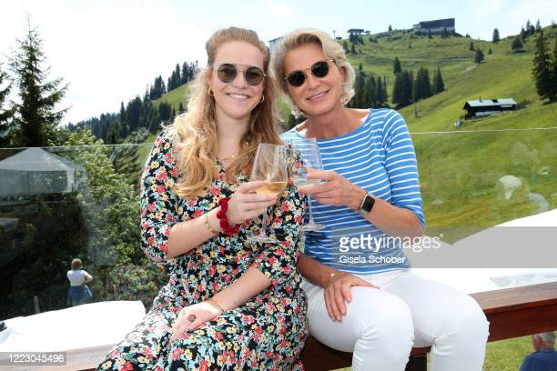 Stefanie Graefin von Pfuel and her daughter Amelie Bagusat during the first Ladies Day and start of the Queens Club hosted by Maria HoeflRiesch on...