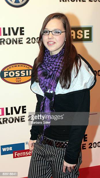 Stefanie Heinzmann attends the ''1Live Krone'' awards on December 4 2008 in Bochum Germany